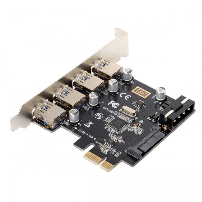 CY U3-038 4-Port PCI-E to USB 3.0 HUB PCI Express Expansion Card Adapter 5Gbps for Motherboard