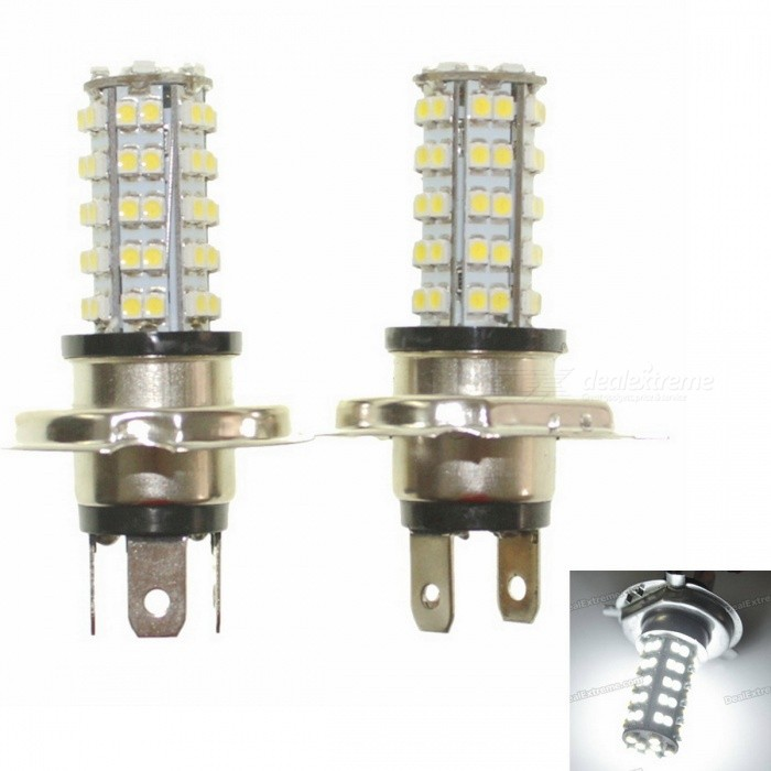 Buy H4 3.5W 68-SMD LED 6500K 310-Lumen White Fog Lights for Car (Pair/DC 12V) with Litecoins with Free Shipping on Gipsybee.com