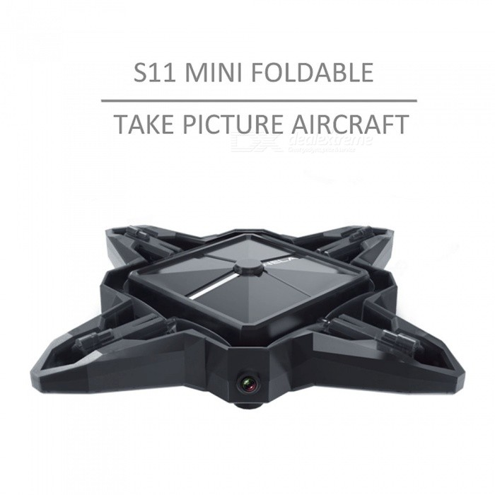 S11 Mini Foldable Wi-Fi Take Picture Quadcopter with 2.0 megapixels HD Camera - Black