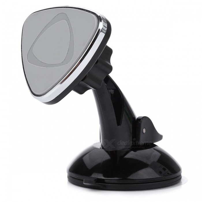 Vehicle-Mounted Universal Car Windshield Mobile Phone Holder with Magnetic Suction Cup - Black