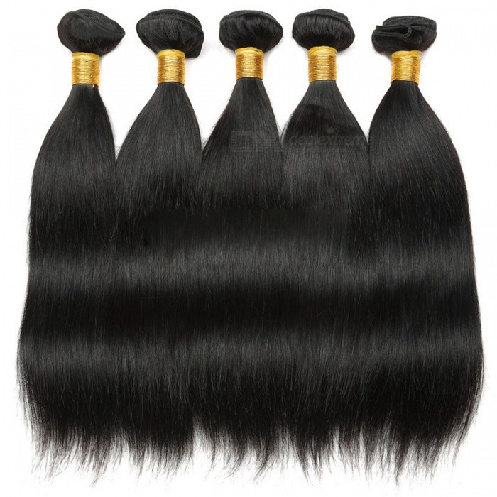 Buy 8-28 Inches 100% Human Hair Bundles Hair Extensions Wig Natural Black - 28 Inches with Litecoins with Free Shipping on Gipsybee.com