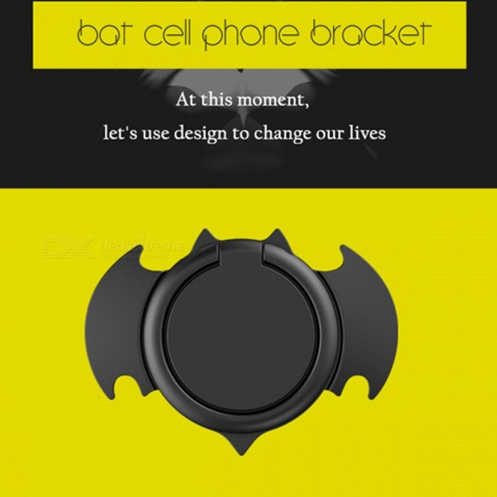 Bat Style Metal 360 Degree Rotation Ring Phone Holder for IPHONE 8