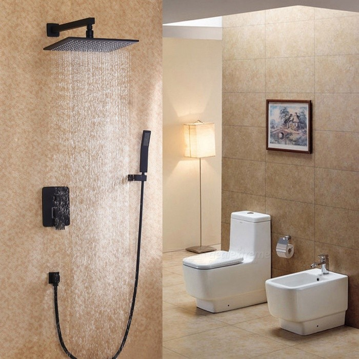 F 6626bi Antique Br Wall Mount Oil Rubbed Bronze Shower Faucet With 8 Inch