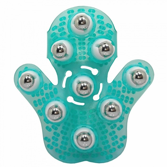 9 Ball Metal Rolling Massager / Naprapathy for Head, Hand, Foot, Hip, Back - Cyanic