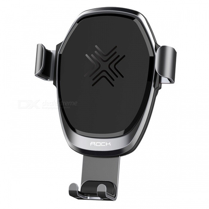 ROCK Metal Gravity Car Wireless Charger 10W Fast Charge Car Charger Phone Holder for IPHONE PLUS Samsung Galaxy