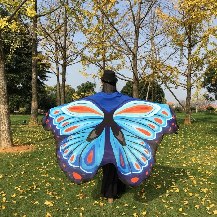 Soft-Fabric-Butterfly-Wings-Style-Chiffon-Shawl-Fairy-Ladies-Nymph-Pixie-Costume-Accessory