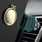 Chinese Golden Hoop Style Durable Rotating Metal Finger Ring Mobile Phone Holder - Gold