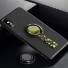 ROCK-Protetive-Back-Case-for-IPHONE-X-With-Megnetic-Back-Metal-Ring-Stand-Anti-Slip-Strap-Black