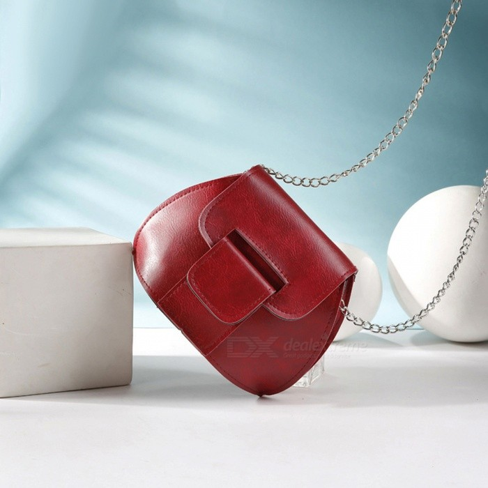 Creative-Shell-Style-Mini-Shoulder-Bag-with-Metal-Chain-for-Women-Girls-Red