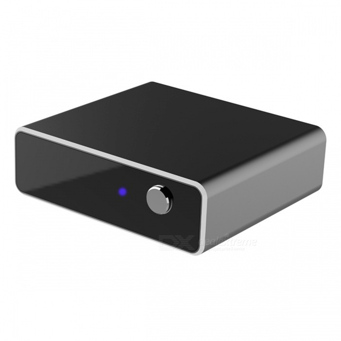 Buy Hi-Fi Aluminum Alloy APTX Lossesss Bluetooth V4.2 Home Receiver - Black with Litecoins with Free Shipping on Gipsybee.com