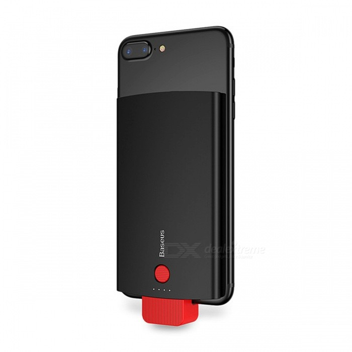 nice shoes 00472 418c0 BASEUS 2-in-1 Universal 4000mAh Battery Phone Back Cover Case for IPHONE 5,  6, 7 - Black
