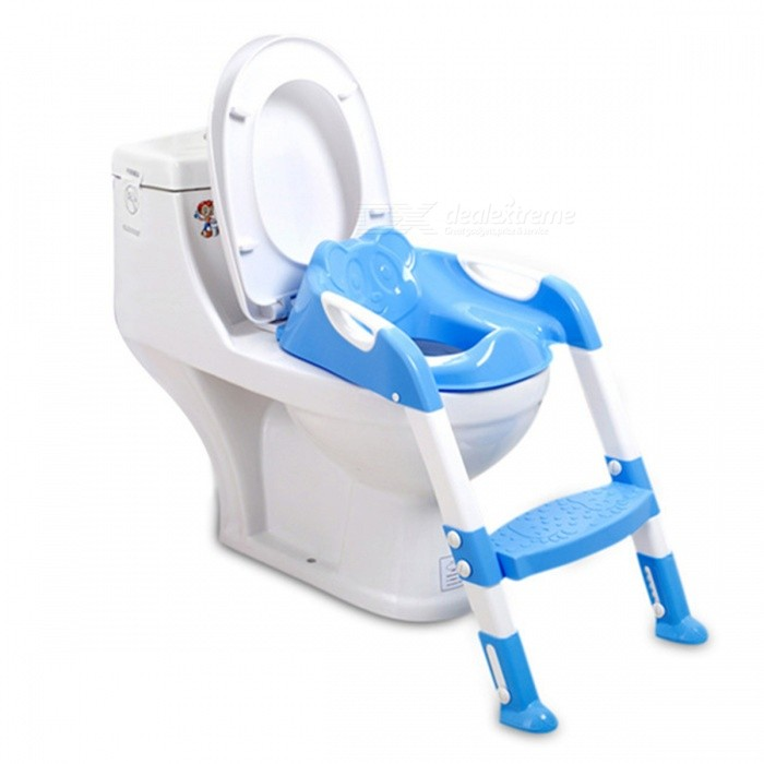 Foldable Baby Potty Training Chair with Adjustable Ladder