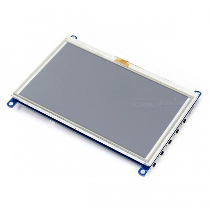 Waveshare 1024x 600 5 Inches resistive Touch screen lcd with HDMI Interface  designed for Raspberry pi