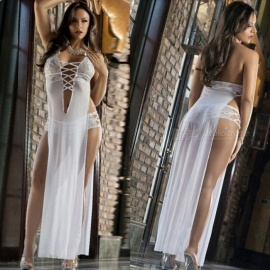 Large-Size-Sexy-Perspective-Mesh-Gown-Side-Slit-Lingerie-for-Women