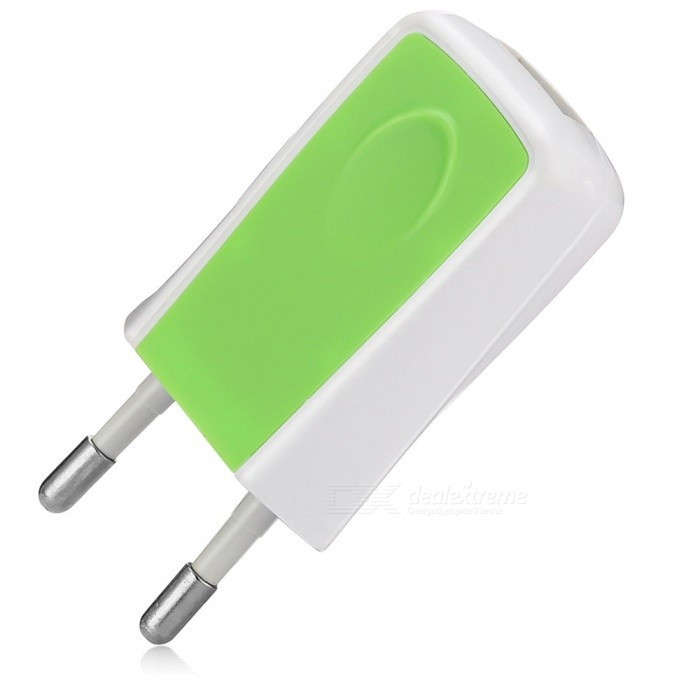 Universal Home Travel Charger Plug Charging Adapter - Green
