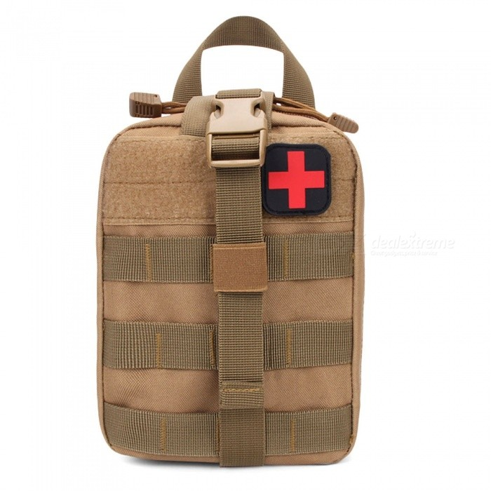 Outdoor Travel Climbing Tactical Medical First Aid Kit for Emergency Rescue - Khaki