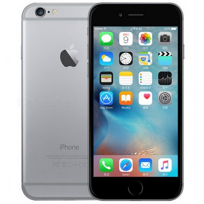 "Original Unlocked Dual Core 4.7"" Apple iPhone 6 Used Phone with 1GB RAM, 16GB ROM - Space Gray"