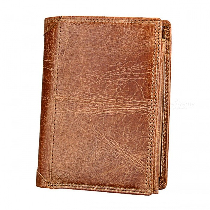 Folding-Short-Style-Anti-Theft-Anti-RFID-Mens-Leather-Wallet-Purse