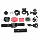 Mini Full HD 1080P Action Sports Camera with Wide Angle Lens for Cycling - Black