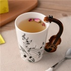 Novelty Guitar Ceramic Cup Personality Music Note Milk Juice Lemon Mug Coffee Tea Cup Home Office Drinkware