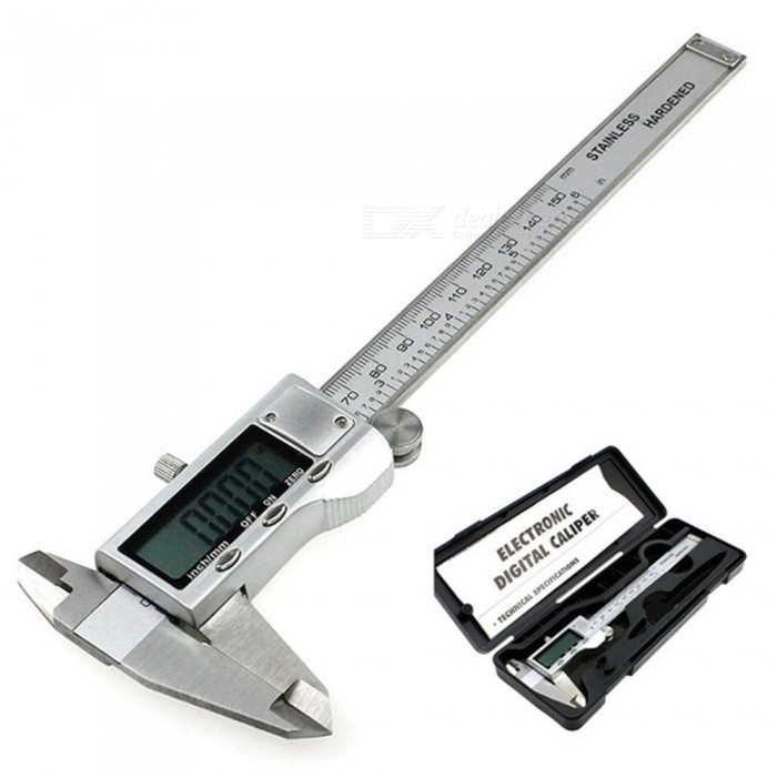 Portable 0-150mm Stainless Steel Digital Display Electronic Vernier Caliper