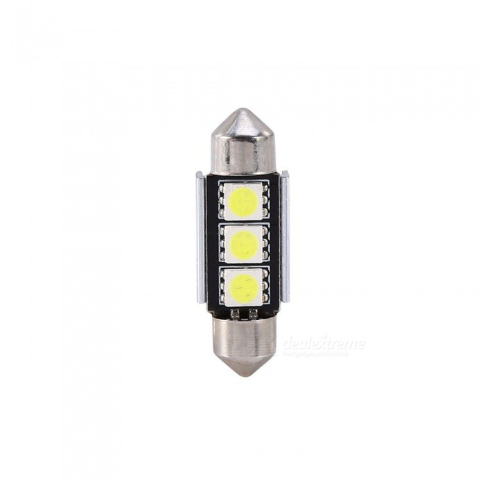 36mm 1W 100lm 7000K 3-SMD LED Car White Light Bulb for BMW (DC 12V)