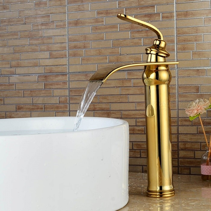 Brass-Deck-Mounted-Ceramic-Valve-One-Hole-Ti-PVD-Bathroom-Sink-Faucet-w-Single-Handle