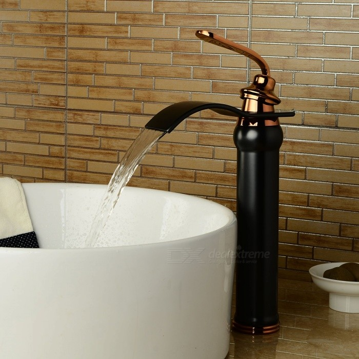 Brass-Deck-Mounted-Ceramic-Valve-One-Hole-Oil-rubbed-Bronze-Bathroom-Sink-Faucet-w-Single-Handle