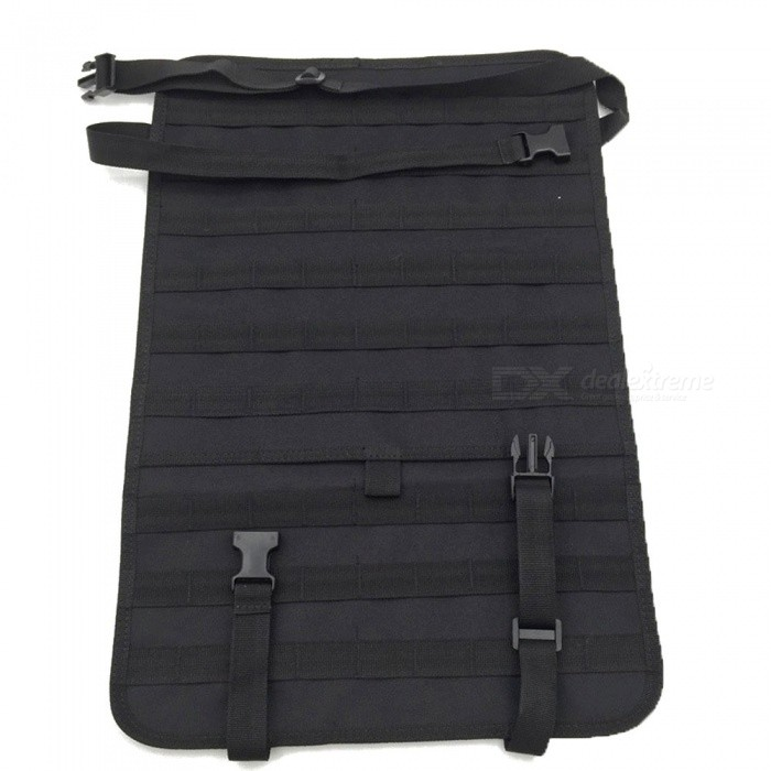 Car-Seat-Back-Sports-Leisure-Multi-functional-600D-Nylon-Tactical-Bag-Backpack-Accessory-Black-(1L)