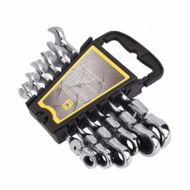 Activities Ratchet Gears Wrench Set, Torque Wrench Spanner 8-17mm 6Pcs