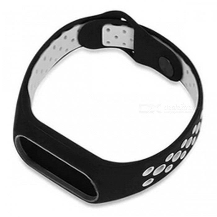 Waterproof Dual Color Silicone Replacement Wristband Band Strap for Xiaomi Mi2 Fitness Bracelet