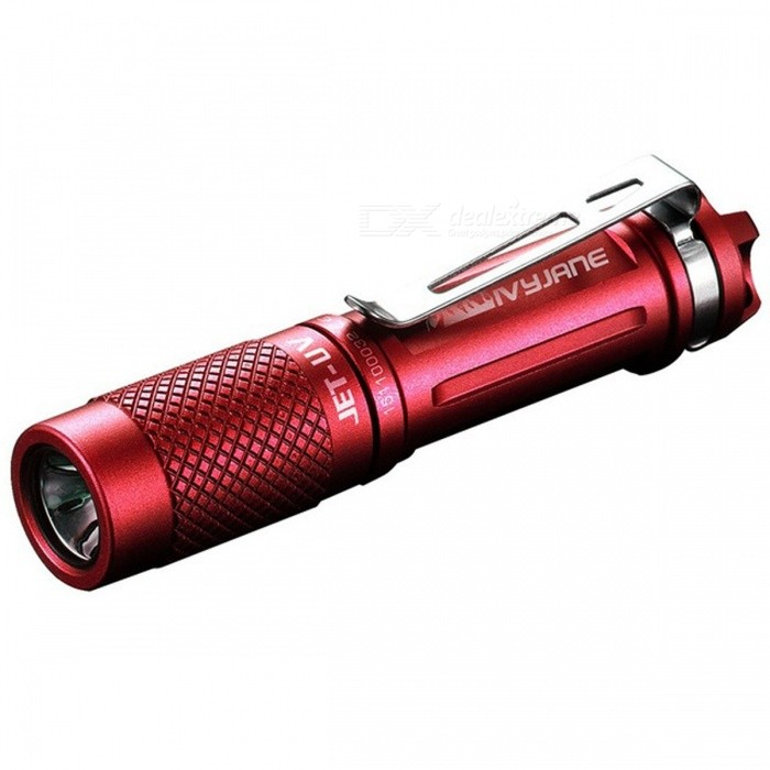 JETBeam JET - UV LED Mini Flashlight w/ 3535 365nm UV Currency Fluorescer Agent Detection