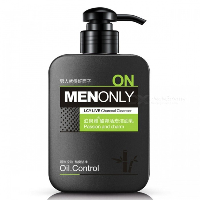Buy Men Facial Cleanser Oil-Control Deep Cleansing Scrub Skin Care Cleanser Whitening Acne Blackhead Exfoliating Cleanser Pore-clean with Litecoins with Free Shipping on Gipsybee.com