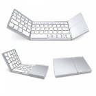 Miimall-3-Folding-Rechargeable-Small-Wireless-Bluetooth-Keyboard-with-Touchpad-for-iOS-Android-WindowsTablet-Silver