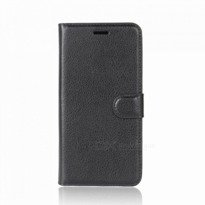 Buy Protective PU Leather Wallet Style Case w/ Card Slots for Xiaomi Redmi Note 5 - Black with Litecoins with Free Shipping on Gipsybee.com