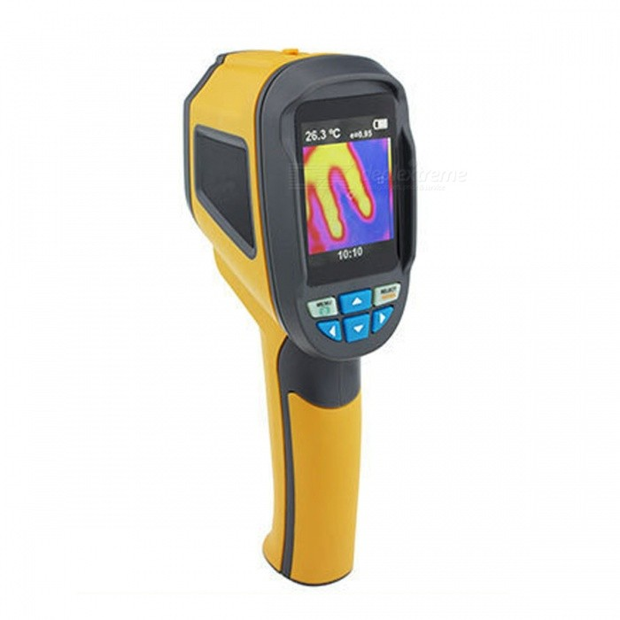 HT-02D Handheld Thermal Imaging Camera Infrared Thermometer IR Imager - Yellow (4 x AA)
