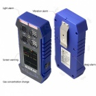 4 in 1 O2 H2S Carbon Monoxide CO Flammable Gas Analyzer Monitor Toxic Gas and Harmful Gas Leak Detector - Blue