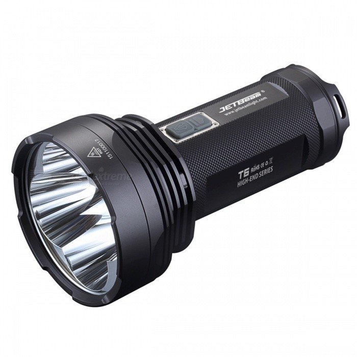 JETBeam T6 4 x CREE XP - L 4350LM LED 7-Mode Police Camping Flashlight - Black
