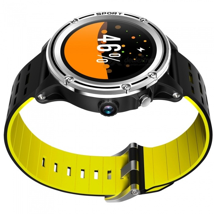 "MF31 1.3"" Touch Screen Bluetooth Smart Watch with GPS Positioning, Heart Rate Monitoring, Multiple Sports Mode - Yellow"