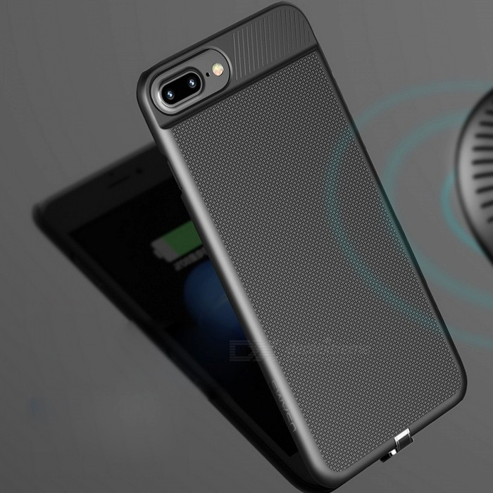 best sneakers 29add ea668 USAMS Phone Back Cover Case with Built-in Wireless Charger Receiver for  5.5
