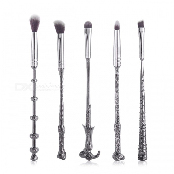 FLY-S086 Harry Potter Magic Stick Style Eye Shadow Blooming Concealer Makeup Brush Set with Storage Pouch - Black