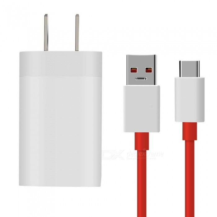 1m Fast Charging Type-C to USB Data Cable with Power Adapter Charger for Oneplus/ Oneplus 5t/ OnePlus 3T - US Plug