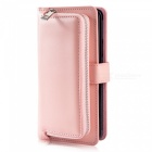 Measy-Fashionable-PU-Leather-Wallet-Style-Case-with-Zippered-Bag-for-Samsung-Galaxy-S9-Pink