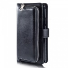 Measy-Fashionable-PU-Leather-Wallet-Case-with-Zipper-Bag-for-Samsung-Galaxy-S9-Plus-Black