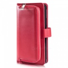 Measy-Fashionable-PU-Leather-Wallet-Case-with-Zipper-Bag-for-Samsung-Galaxy-S9-Plus-Red