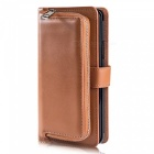 Measy-Fashionable-PU-Leather-Wallet-Case-with-Zipper-Bag-for-Samsung-Galaxy-S9-Plus-Brown