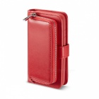 Measy-Fashionable-PU-Leather-Wallet-Style-Case-with-Zippered-Bag-for-Samsung-Galaxy-S8-Red