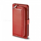 Measy-Premium-PU-Leather-Wallet-Case-with-Zipper-Bag-for-Samsung-Galaxy-S8-Plus-Red