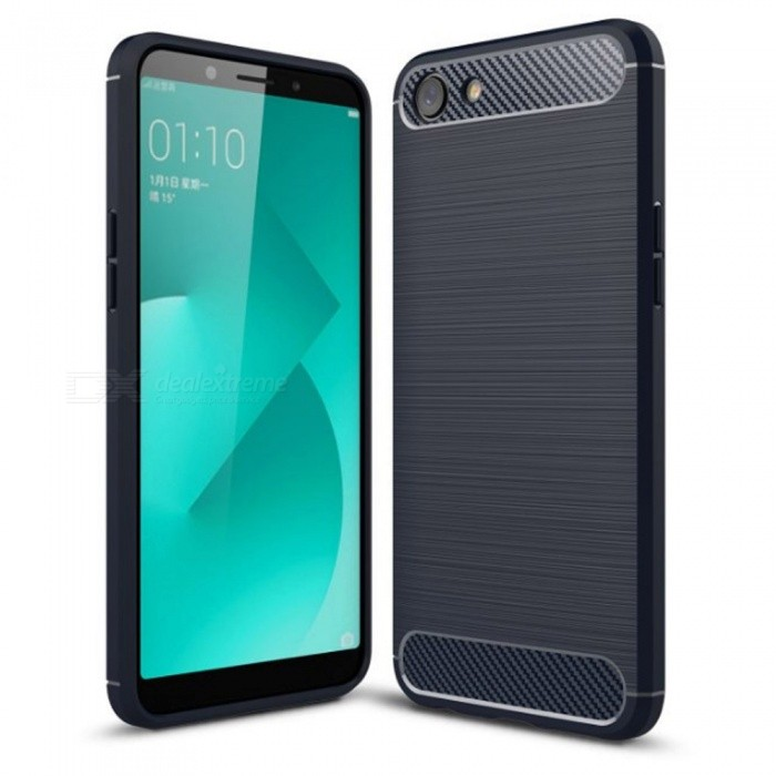 Naxtop Wire Drawing Carbon Fiber Textured TPU Brushed Finish Soft Phone  Back Cover Case For Oppo A83