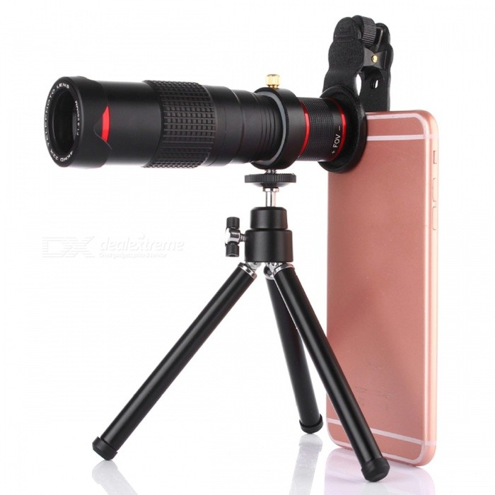 OJADE Universal 22X Zoom Telescope Clip-On Phone Camera Lens w/ Tripod for Mobile Phone Samsung IPHONE
